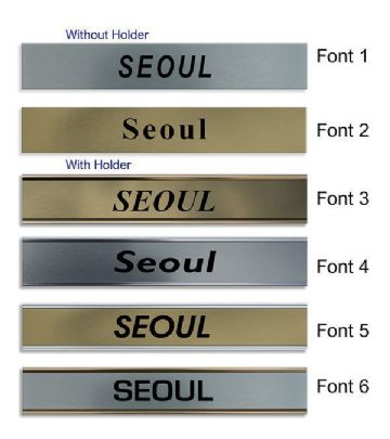 Seoul Clock Name Plate |World Time Zone City Wall clocks Sign custom Plaque